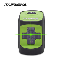 MUFASHA Mini 2 Lines Laser Level Red Beam or Green Beam Self Leveling Laser Level in Box