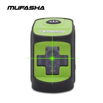 MUFASHA Mini 2 líneas láser Nivel de haz rojo o haz verde nivel de láser de nivelación automática en caja
