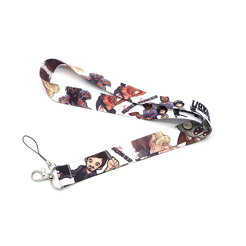 30pcs lot Ribbon Lanyard For Keychain ID Card Pass Mobile Phone Hang Rope Anime the Walking