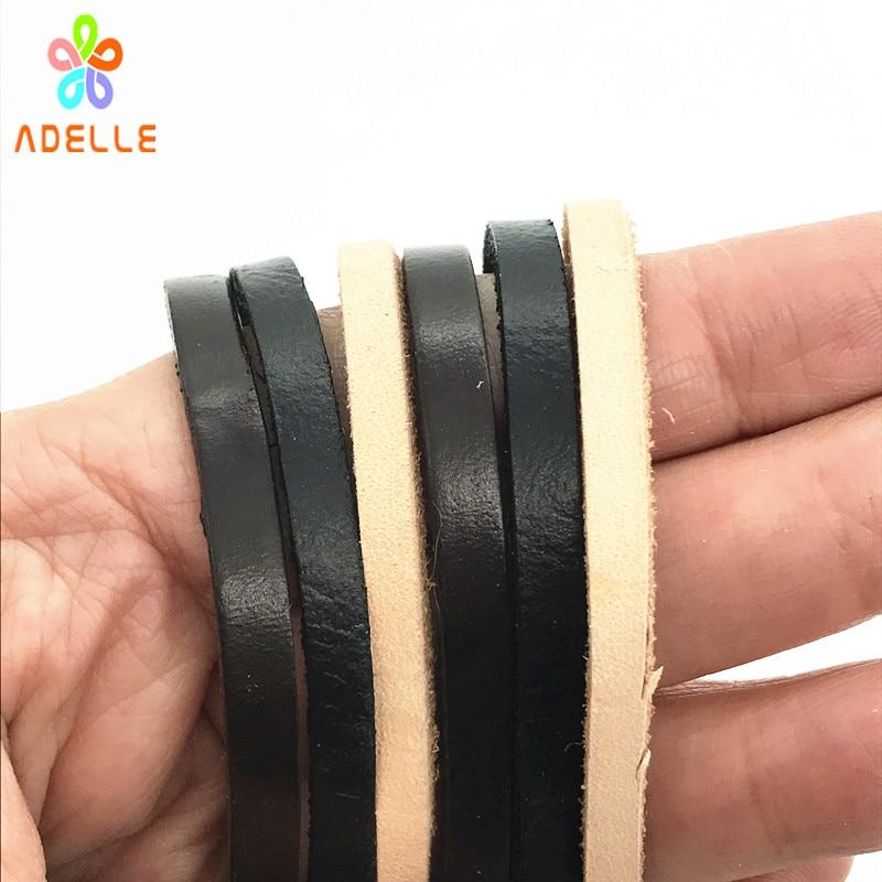3 color Geniune Cowhide Leather Cut strips Rope Hide Flat 2/3/4/5/8/10/12/15/20mm Tan Black Coffee DIY belt free shipping 10m