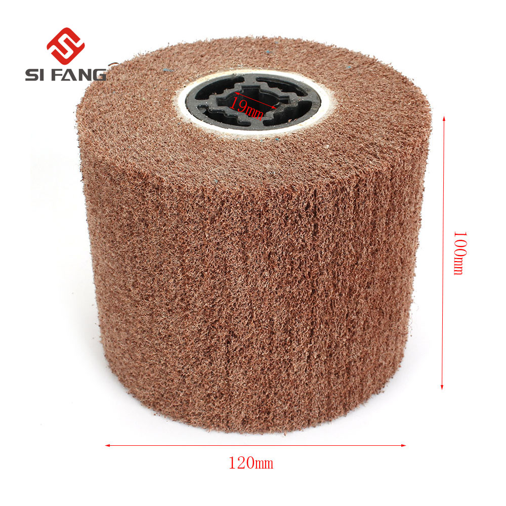 120*100*19mm Grit 240# Wire Drawing Polishing Burnishing Wheel For Burnishing Machine/polisher/sander Abrasive Wheel