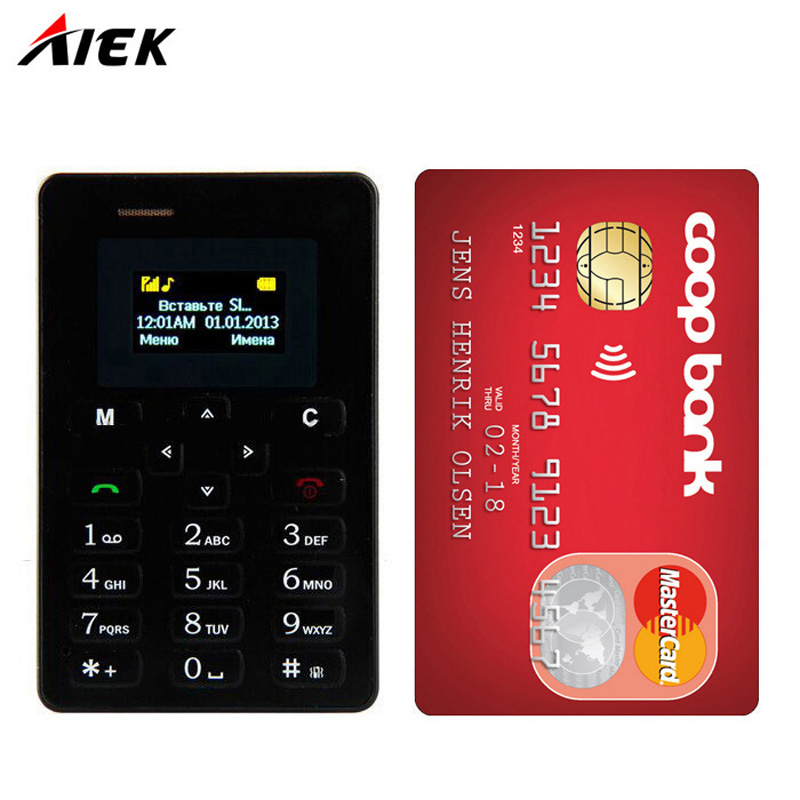 Original Ultra Thin Card Mobile Phone 4 8mm AEKU AIEK M5 Low Radiation mini pocket students