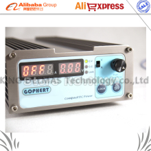 Free shipping CPS-1620 300W (110Vac/ 220Vac) 0-16V/0-20A, Gopher Compact Digital Adjustable DC Power Supply CPS1620 + plug EU
