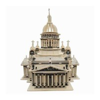 Wooden Architecture Building blocks 3d Isa Kiev Church Baby Wooden Toys For Children DIY Presents Educational Gift Baby Block