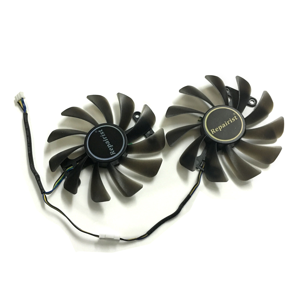 2pcs/set GTX 1070 1080 GPU Cooler Video Cards Fan For KFA2 GTX1070 Ti EX GTX 1080/1070 EXOC Graphics Card Cooling As Replacement image