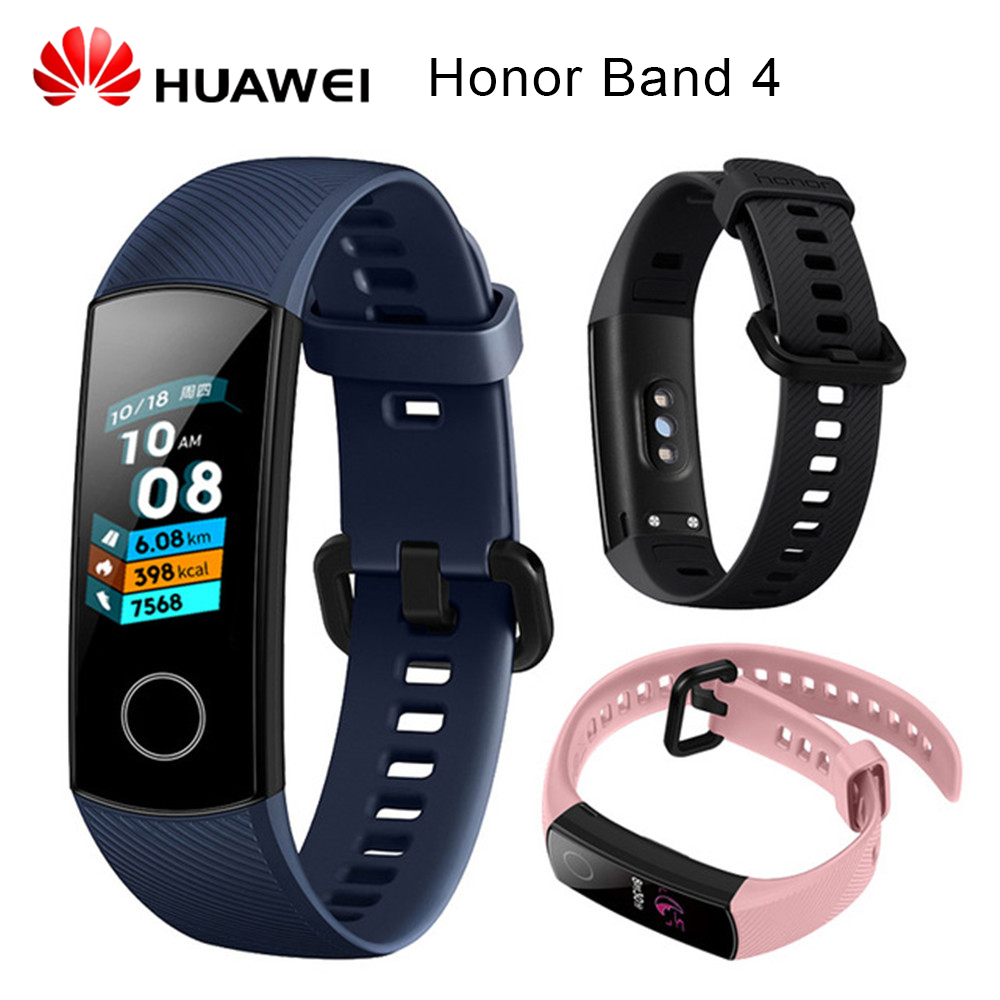 Original Huawei Honor Band 4 Smart Wristband Amoled Color 0 95 Touchscreen Swim Posture Detect Heart