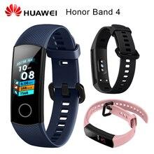 Оригинальный huawei Honor Band 4 Смарт Браслет Amoled цвет 0,95 «сенсорный экран плавание осанки обнаружения сердечного ритма сна оснастки