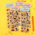 2016 personas pequeñas amarillas pegatina 3D Pegatinas de Pared para Niños Juguetes de Regalo de Navidad