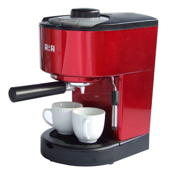 Quality goods Automatic  Coffee maker 10 Cup Coffee machine High pressure Steam Espresso machine Milk bubble machine 800W 15 Bar italy espresso coffee machine semi automatic maker cup warming plate kitchen