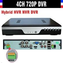 New CCTV 4CH 720P SDVR H.264 Recorder 4 Channel CCTV AHD DVR NVR HVR Video Recorder Support Analog Camera IP Camera 3G WIFI