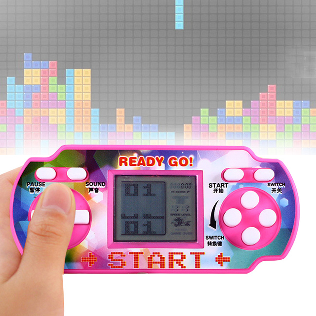 Clasico Consola De Videojuegos Portatil Nostalgia Tetris Consola
