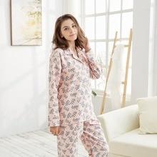 TONY & candice Для женщин пижамы пижамный комплект 100% хлопок женские пижамы с длинным рукавом фланель печати Loungewear в осень ночная рубашка
