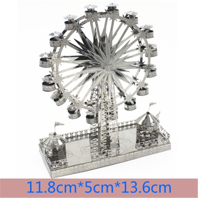 3D Metal Puzzle Model Kit DIY Stainless Steel Starship DOCTOR WHO TARDIS Animal Ship Adult Jigsaw DIY Jigsaw Manual Gift Toys 28
