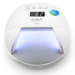 УФ-лампа SUN7 для сушки гель-лака, 48 Вт, двойной светильник, перезаряжаемый внешний аккумулятор, для сушки гель-лака