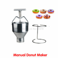 Manual Doughnut Machine Stainless Steel Hand Operation Donut Machine Donuts Production Tool with 6 Levels Manual Adjustment