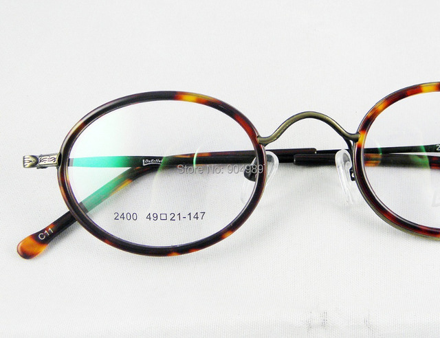 7683c714693 46-21-140 mm Vintage round Eye glasses frame retro geek style Men Women  Optical prescription lens able tortoise black gunmetal