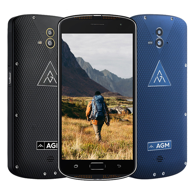 "AGM X1 Tri-proof IP68 Smartphone 4G 5.5"" Snapdragon 617 Octa-core 4GB+64GB 13.0MP Dual Rear Cameras 5400mAh Cellphone P127"
