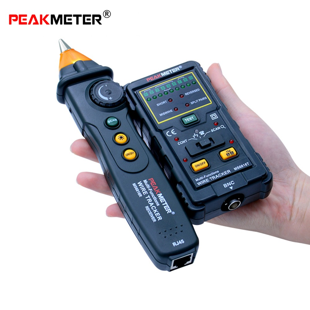 Multi-Function Wire Tracker Circuit Breaker Finders RJ45 RJ11 Continuity Telephone Line DC Level Test Network Cable Tester