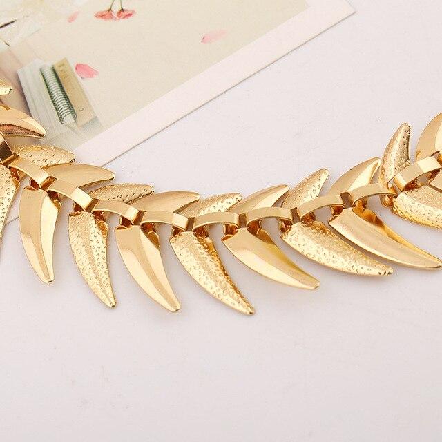 Купить lzhlq модное ожерелье чокер в виде рыбьей кости ожерелья геометрической
