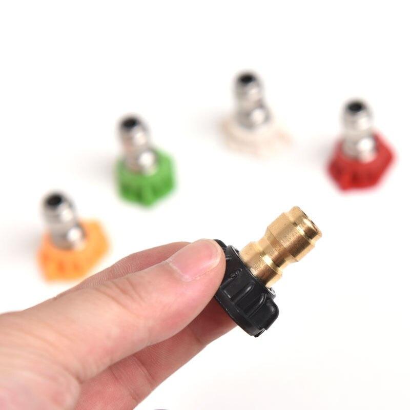 5 шт. высокое Давление форсунки омывателя Совет набор различных градусов Quick Connect