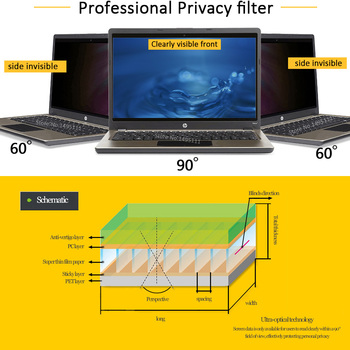 13.3 inch (294mm*165mm) Privacy Filter For 16:9 Laptop Notebook Anti-glare Screen protector Protective film 1