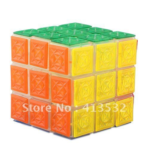 3x3x3 Brain Teaser IQ Magic Cubes With Flashing White LED Light - 55520