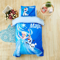 Disney Cartoon Frozen Elsa Anna Bedding Set for Baby Crib Bed 3Pcs Duvet Cover Bedsheet Pillowcases for Baby Boys Girls 0.6m Bed