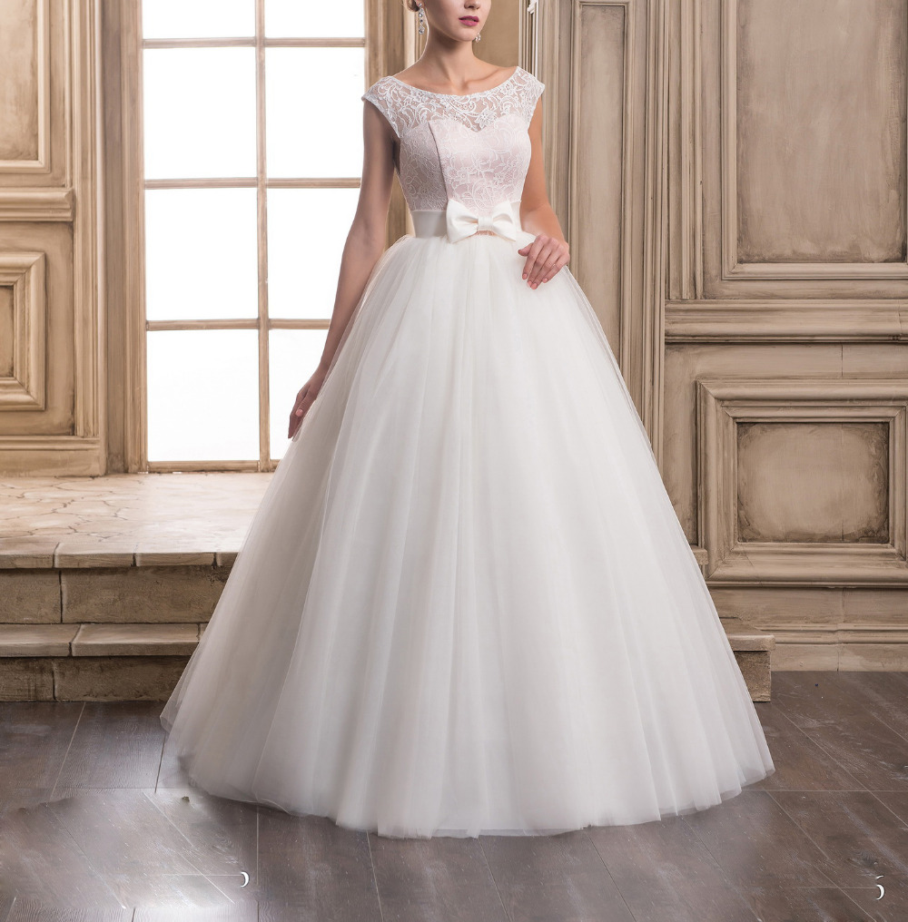 Cheap Wedding Dresses Under 100 Plus Size Satin Bow Sashes