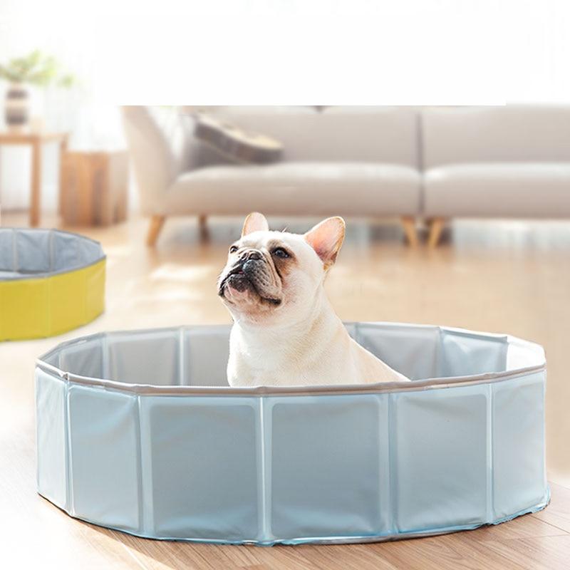 ALK1647 baignoire pour animaux de compagnie Portable grands produits pour animaux de compagnie PVC pliable piscine baignoire pour chien et chat Teddy 80*20 cm