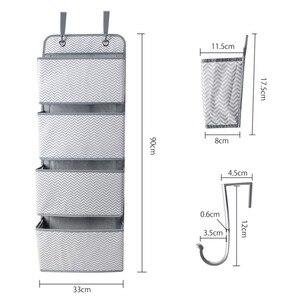 Image 2 - 4 ポケットドア壁ストレージオーガナイとフック省スペースホルダー収納袋おもちゃでクローゼットベッドルーム、リビングルーム