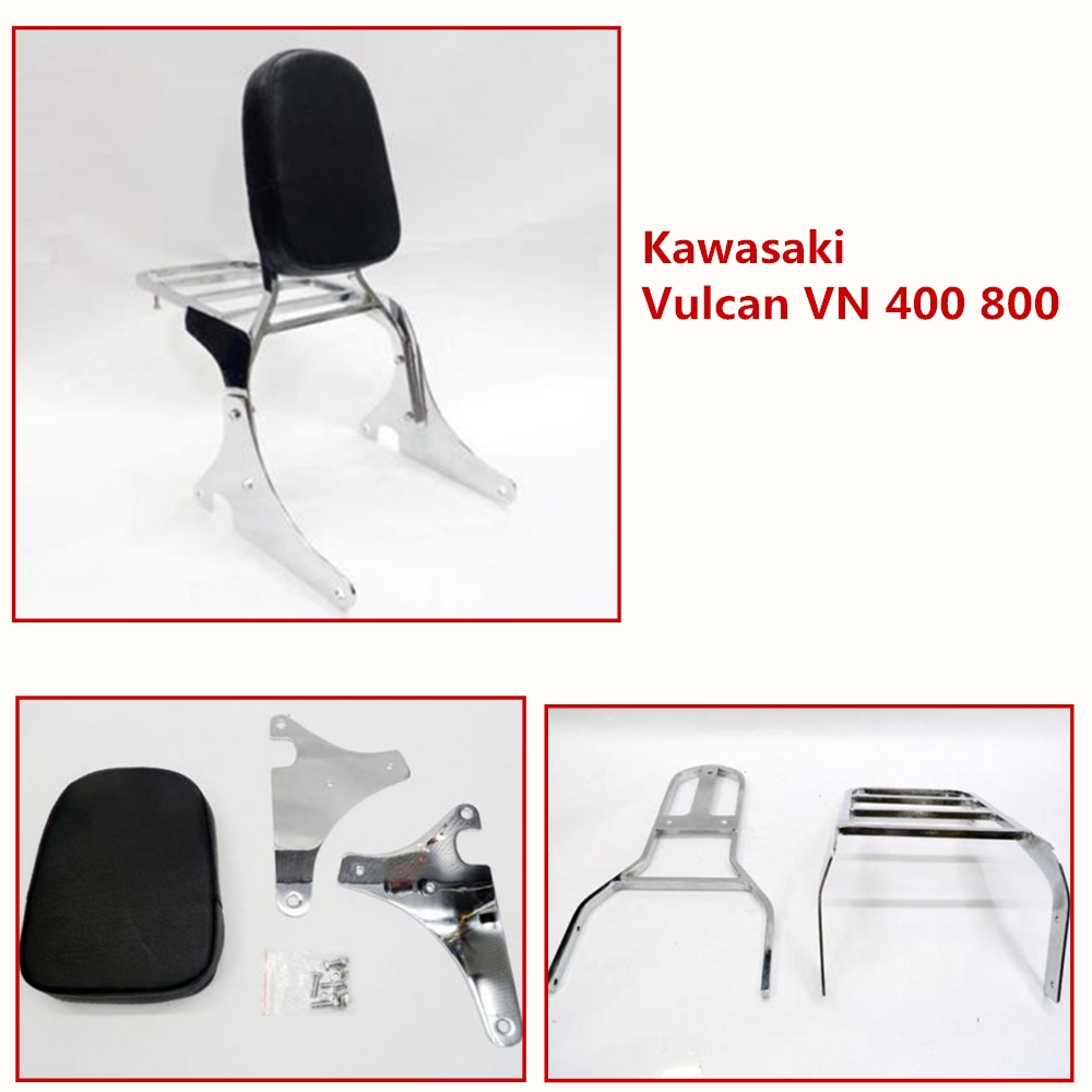 Rear Luggage Rack Support Backrest Passenger Seat Sissy Bar Backrest For 1995-2012 Kawasaki Vulcan VN 400 800 VN400 VN800 2011