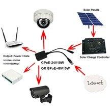 Gigabit POE 24 וולט מזרק PoE עבור Mikrotik/UBNT מוצר מפנלים סולאריים להמיר 12 v כדי 24 v מכשיר מעל 100 m של כבל רשת