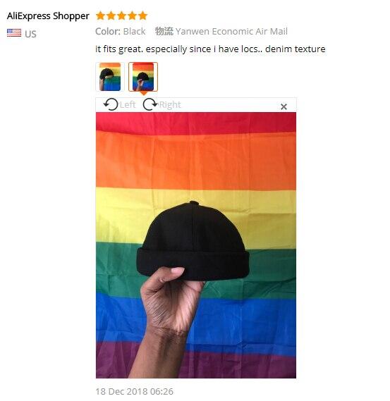 571242fd Αγορά Άνδρες ' s καπέλα | Men Street Casual Docker Sailor Biker Hat ...