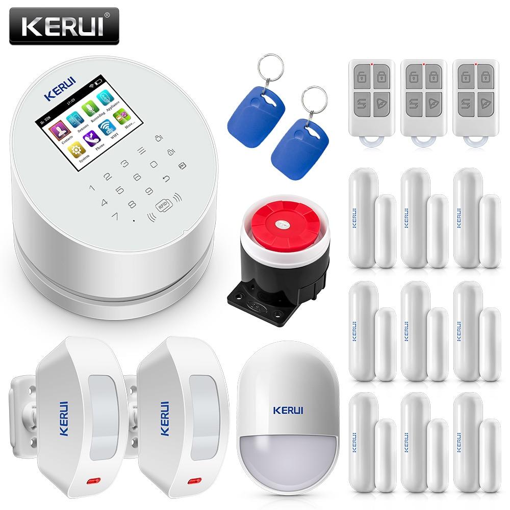 KERUI Smart W2 WIFI GSM PSTN Security Alarm System SMS RFID Disalarm