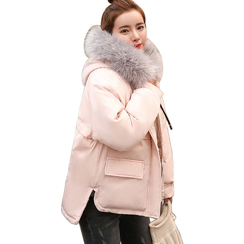 Plus la Taille de mode Manteaux 2018 nouvelle Veste D'hiver Femmes De Fourrure À Capuchon Parkas Mince Mode Femme Manteaux Veste D'hiver Femmes Manteaux