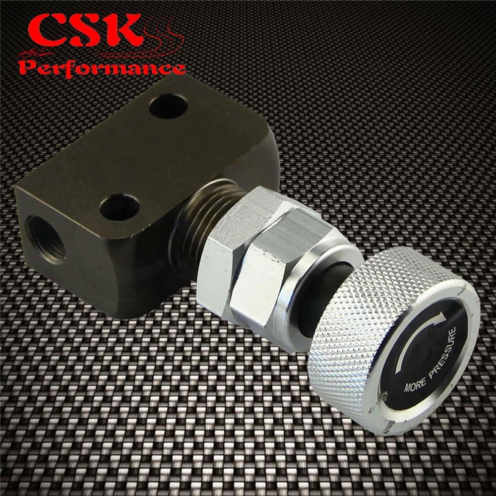 Adjustable Knob Screw Type Brake Proportioning Valve Bias Valve Red//Silver