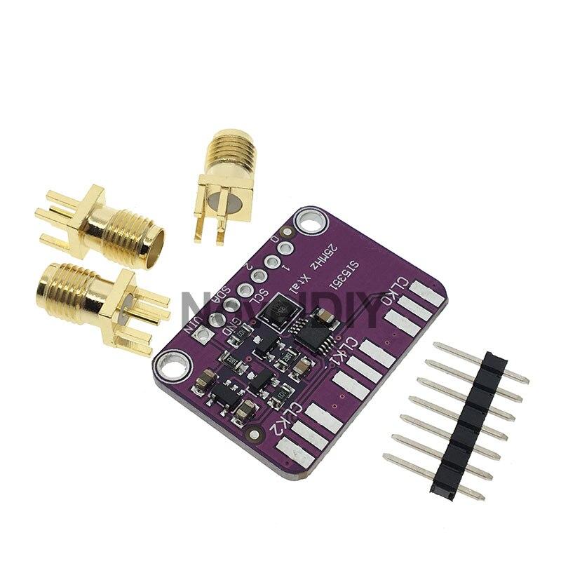 Настольная плата для генератора часов Si5351A Si5351 I2C, 3-5 в постоянного тока, Модульная плата для выключения, генератор сигналов, часы 8 кГц-160 МГц для Arduino