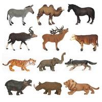 Animal Decoration Toys Bison Black Bear Wolves Toys Model Pinata Children Recognize Animal Early Education Model Toys oyuncak
