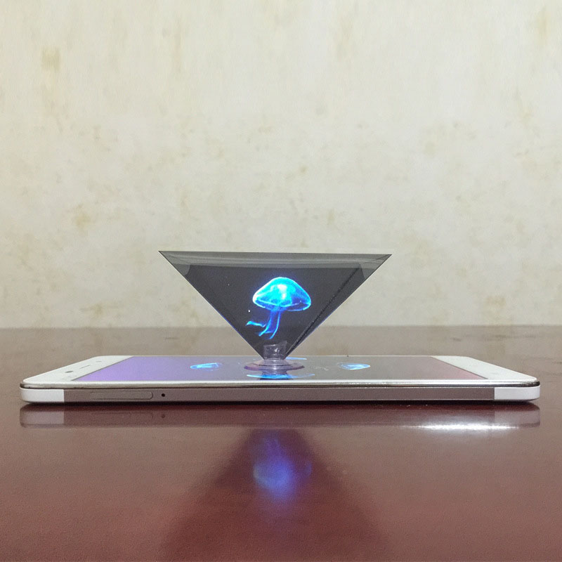1 PC 3D Hologram Pyramid Display Projector Video Stand Universal For Smart Mobile Phone JLRJ88 In Stock