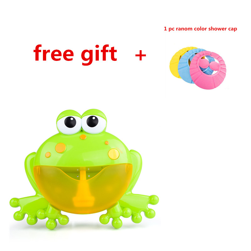 Baby Bath Toys Bubble Machine Big Frogs Automatic Bubble Maker Bathtub Soap Machine Blower Music Bath Toy For Baby & Free Gift