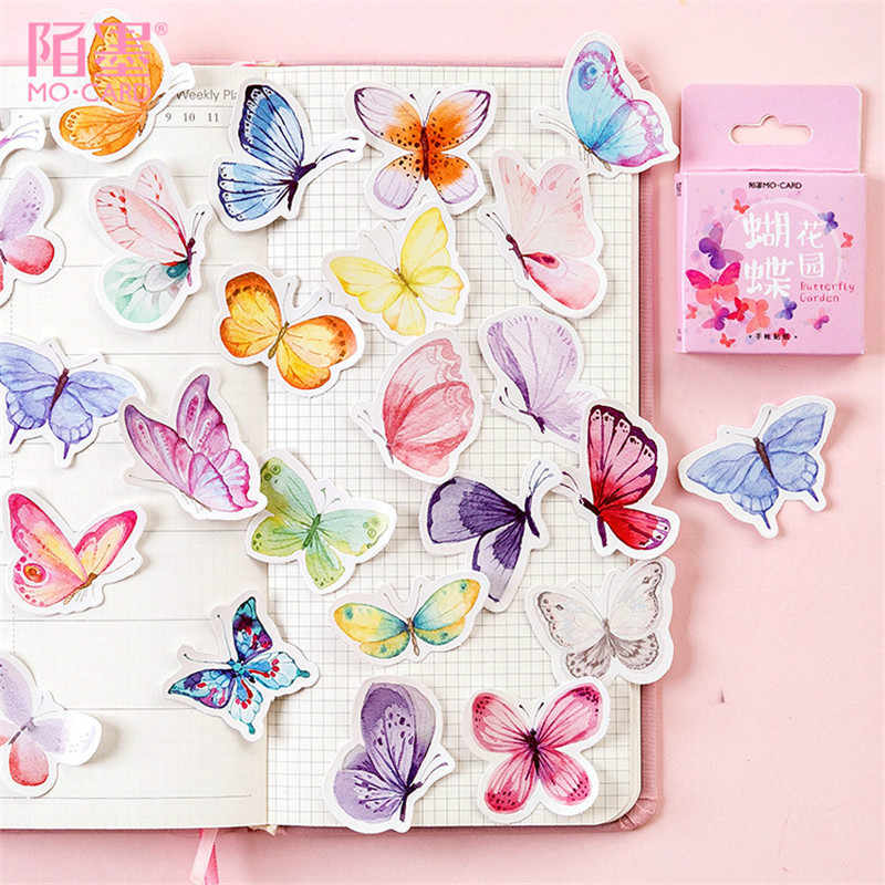 1pcs kawaii memo pad stationery cute Butterfly pattern planner note paper school decoration Supplies posted it sticky notes