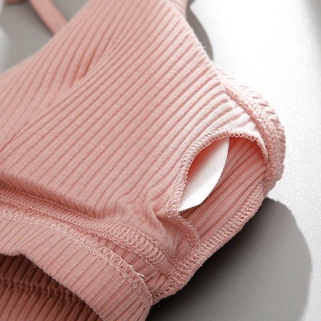 Thin Seamless Backless Wire Free Bra For Women Bralette Sexy Underwear 2
