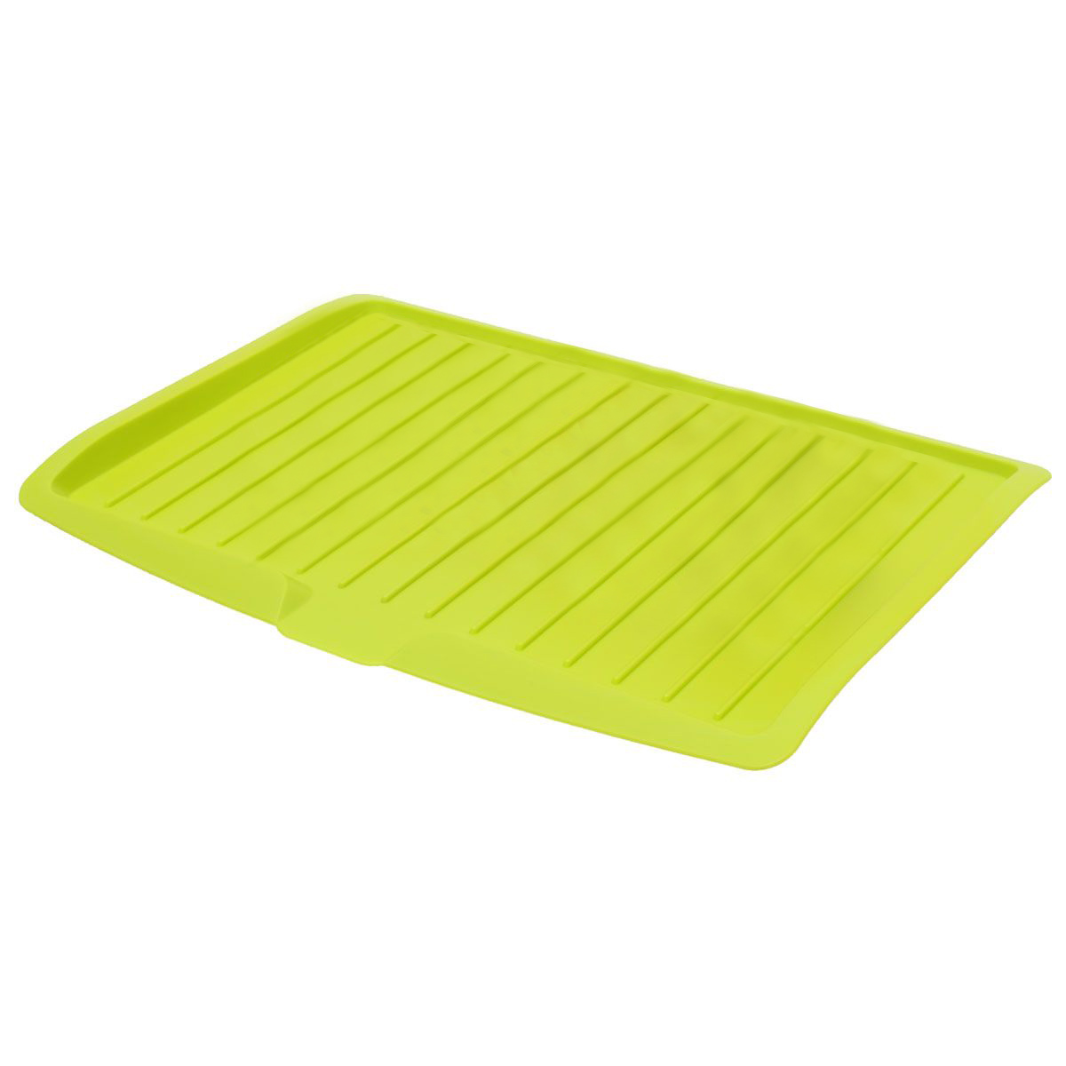 Plastic Dish Drainer Drip Tray Plate Cutlery Rack Kitchen Sink Rack Holder Large green
