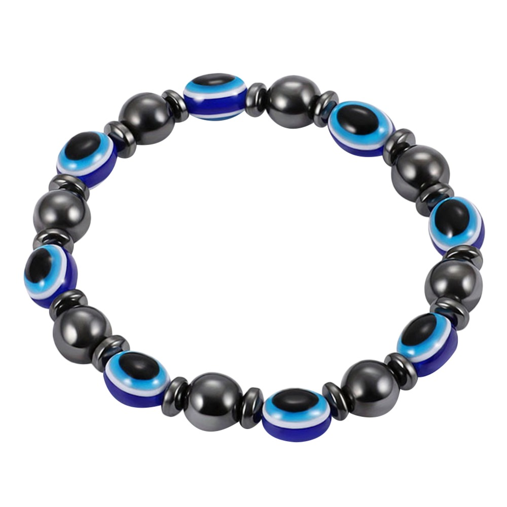 2018 Magnetic Gallstone Bracelet For Men Women Fashion Jewelry Elastic Pierre Naturelle Resin Blue Eye Homme Bracelets Strand Bracelets Jewelry & Accessories