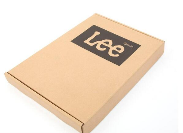 a sample corrugated box with LOGO printing on it ,free shipping sample page