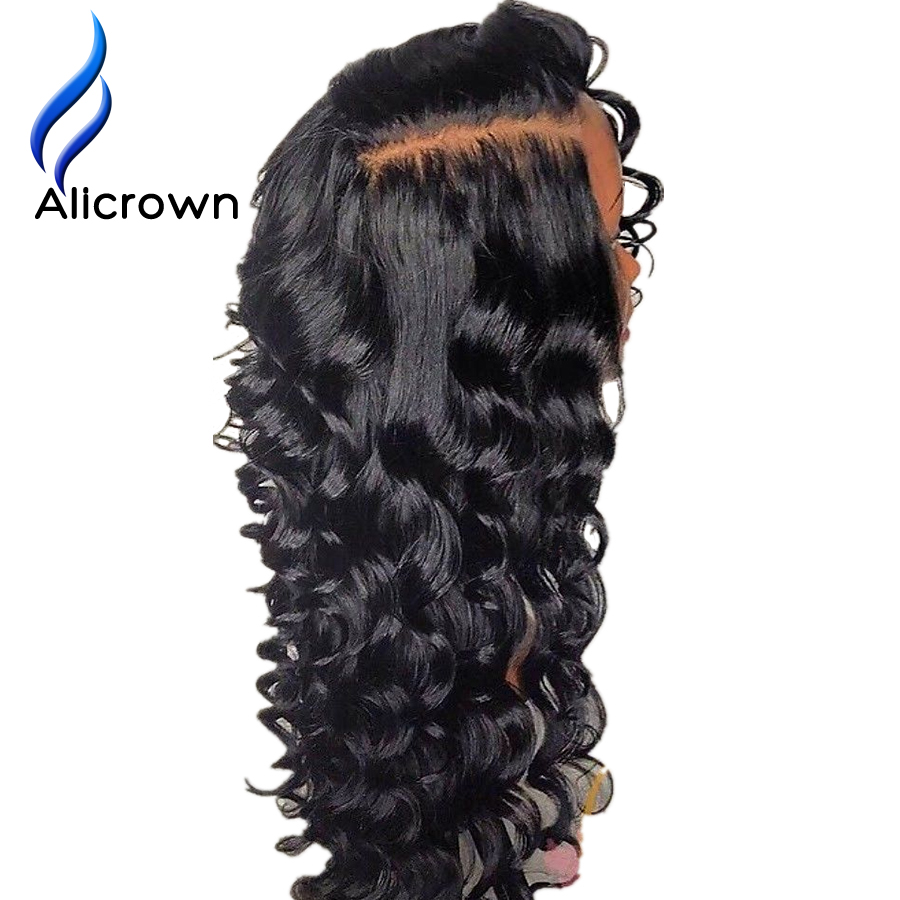 ALICROWN 13 6 Lace Front Human Hair Wigs For Women With Baby Hair Bleached Knots Brazilian