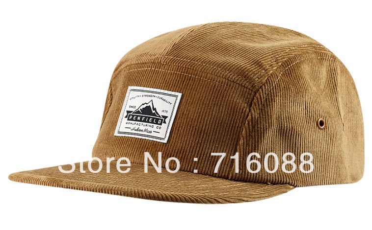 custom corduroy 5 panel flat hat cap-in Baseball Caps from Apparel ... 5c8ace4bd43