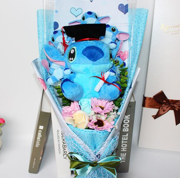 Hot Stitch Plush Toys Anime Lilo and Stitch Soft Stuffed Animal Dolls Kawaii Stich Plush bouquet gift box For Kids Birthday Gift 1pc 16cm mini kawaii animal plush toy cute rabbit owl raccoon panda chicken dolls with foam partical kids gift wedding dolls