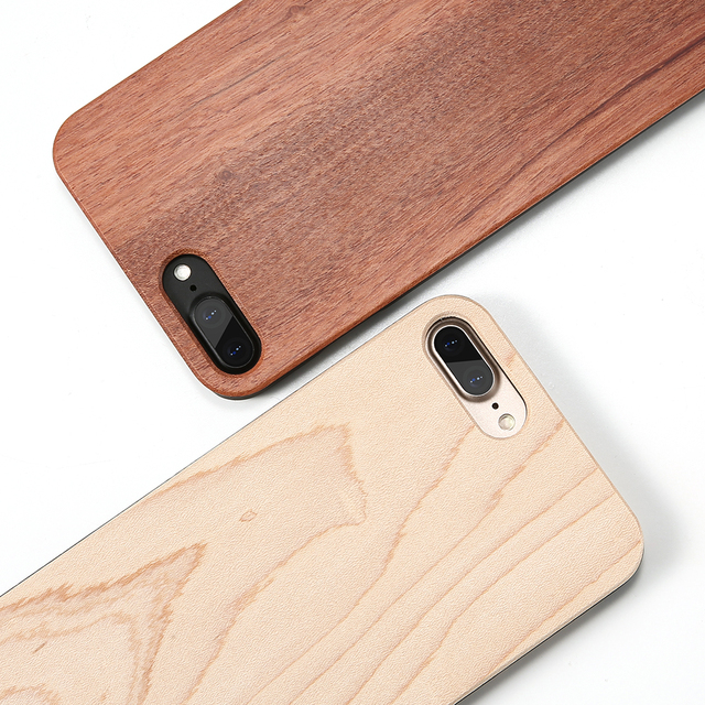 Real Wooden Case For iPhone 6 6s 5 5s SE 7 Plus Bamboo Wood + Hard PC Edge Cover For Samsung Galaxy S7 S7 Edge