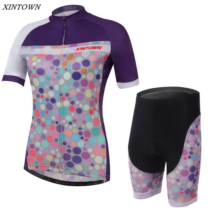 XINTOWN Women Bike Cycling Clothing/ Cycling Jersey Sets With Bib Bicycle Team Quick-dry Outdoor Sportwear Clothing CC0218